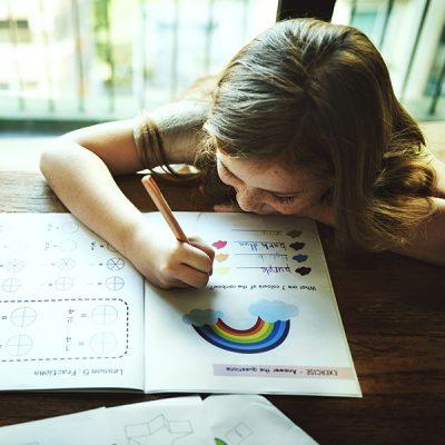 Little Preschooler Writing Acitivity Concept